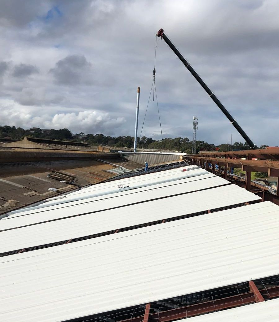 Commercial reroofing project by Lidoran - servicing Sydney