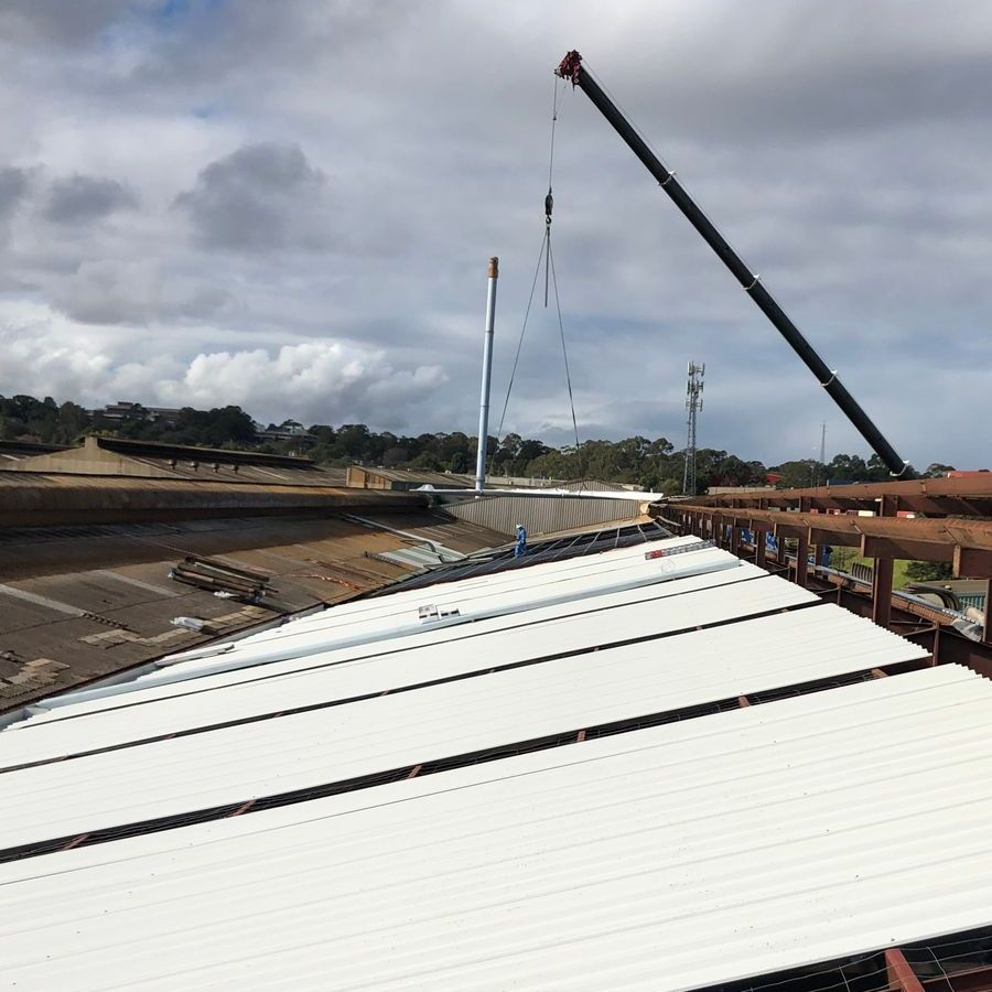 Commercial reroofing project by Lidoran - servicing Newcastle