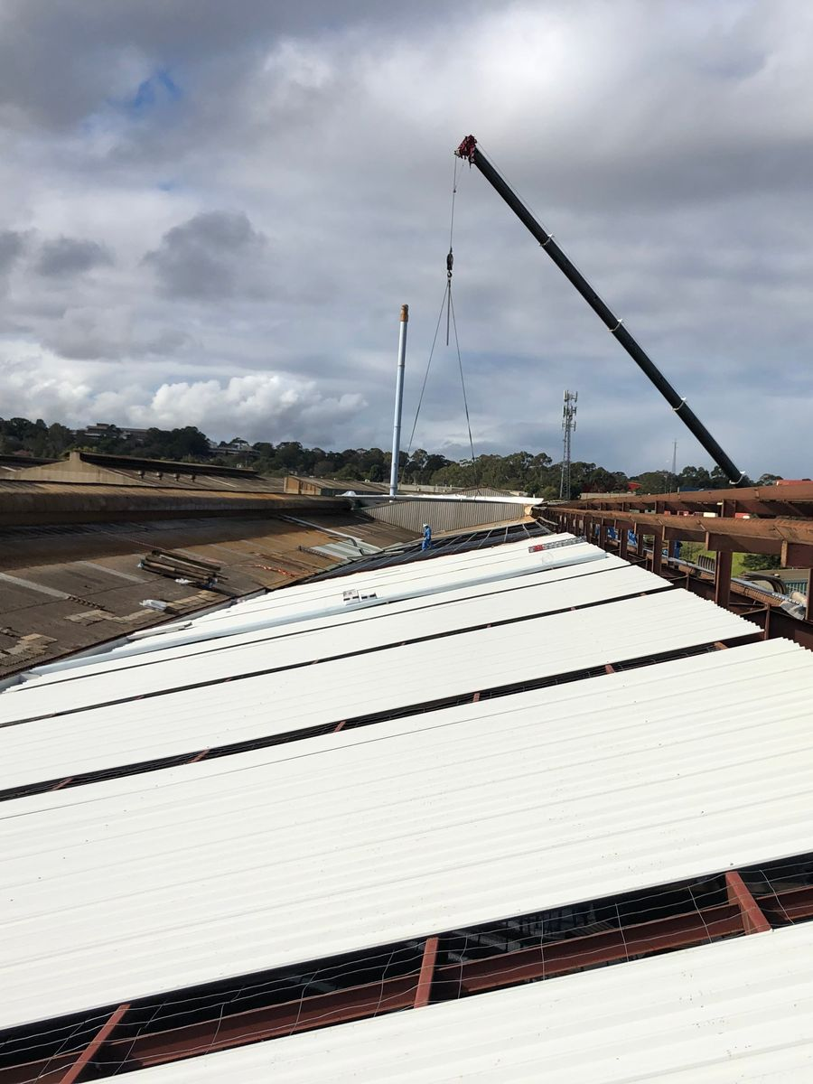 Commercial reroofing project by Lidoran - servicing Brisbane